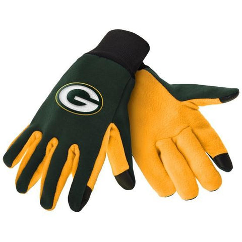 Green Bay Packers Color Texting Gloves