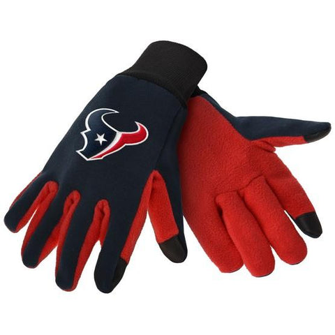 Houston Texans Color Texting Gloves