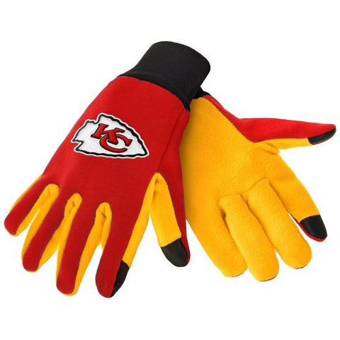 Kansas City Chiefs Color Texting Gloves