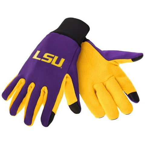 LSU Tigers Color Texting Gloves