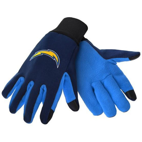 Los Angeles Chargers Color Texting Gloves