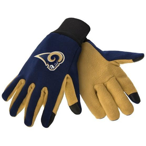 Los Angeles Rams Color Texting Gloves