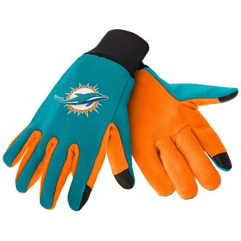 Miami Dolphins Color Texting Gloves