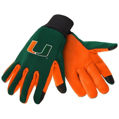 Miami Hurricanes Color Texting Gloves