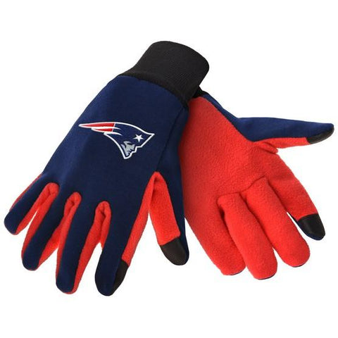 New England Patriots Color Texting Gloves