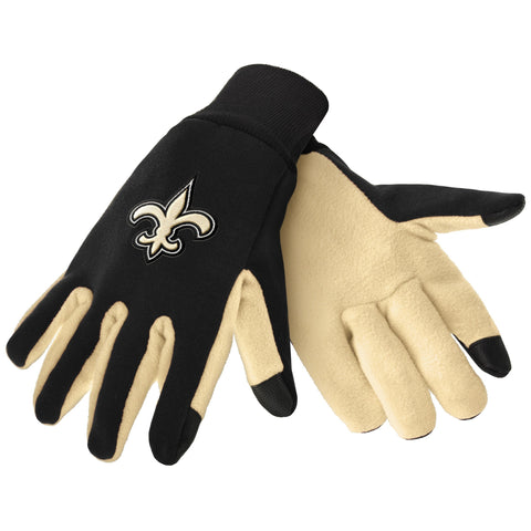 New Orleans Saints Color Texting Gloves