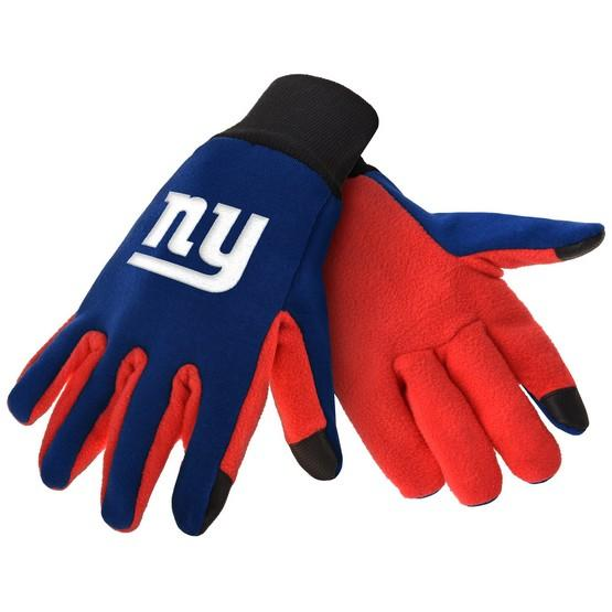New York Giants Color Texting Gloves