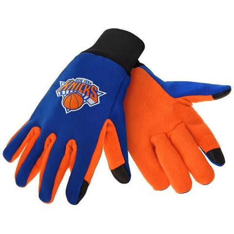 New York Knicks Color Texting Gloves