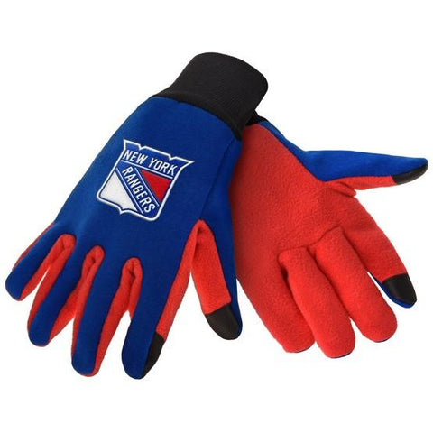 New York Rangers Color Texting Gloves