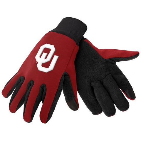 Oklahoma Sooners Color Texting Gloves
