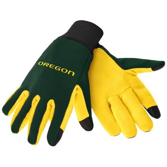 Oregon Ducks Color Texting Gloves