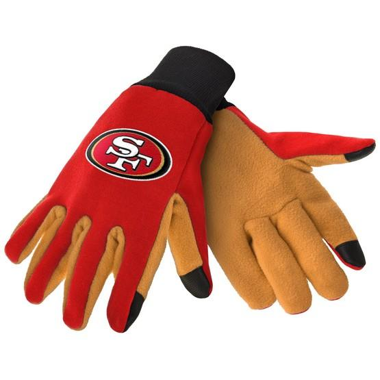 San Francisco 49ers Color Texting Gloves