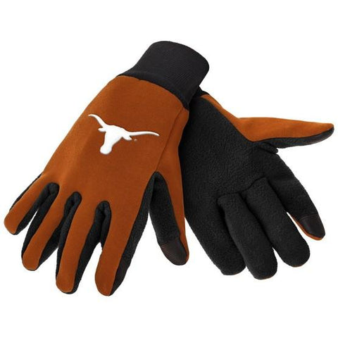 Texas Longhorns Color Texting Gloves