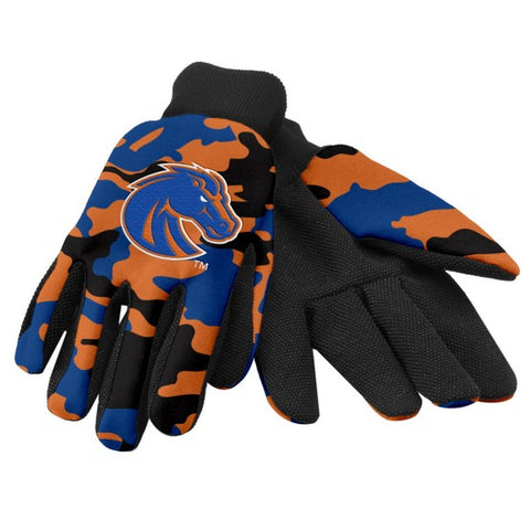 Boise State Broncos Camo Utility Gloves