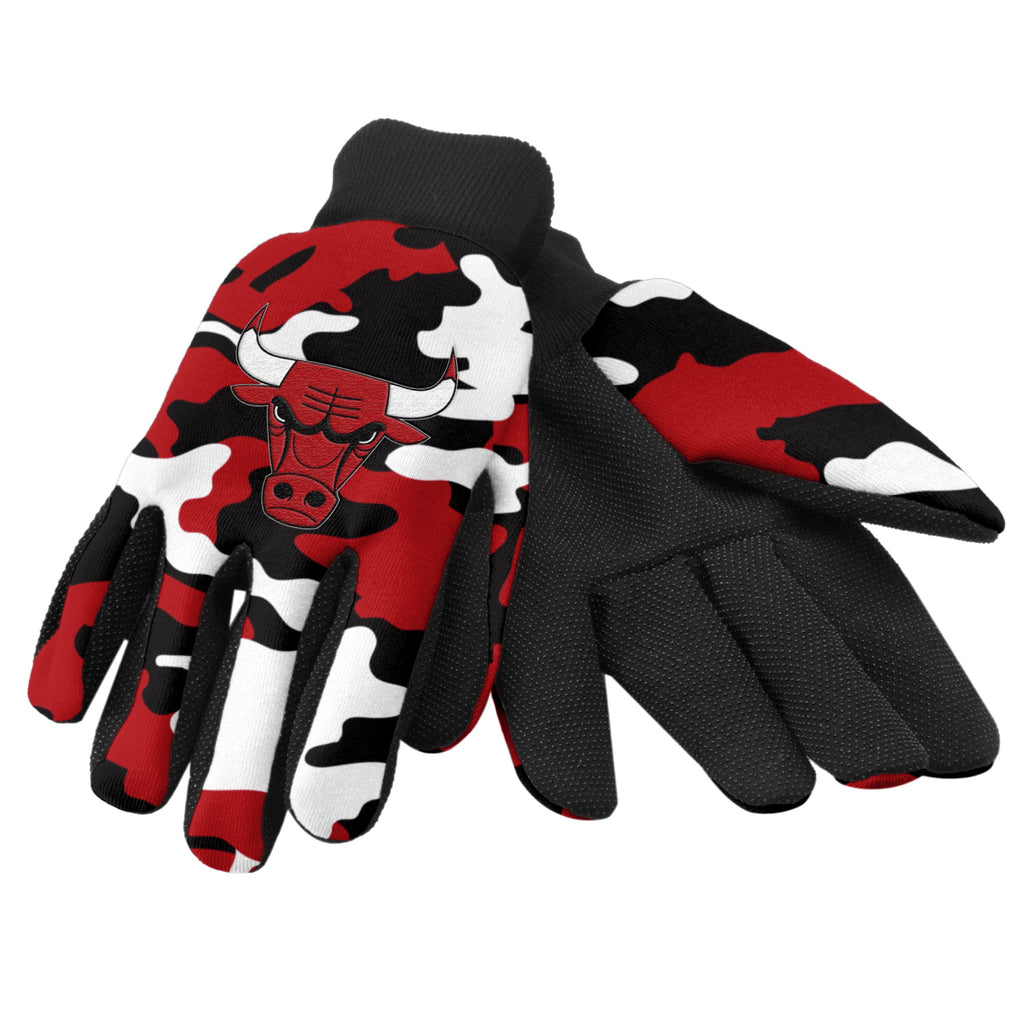 Chicago Bulls Camo Utility Gloves