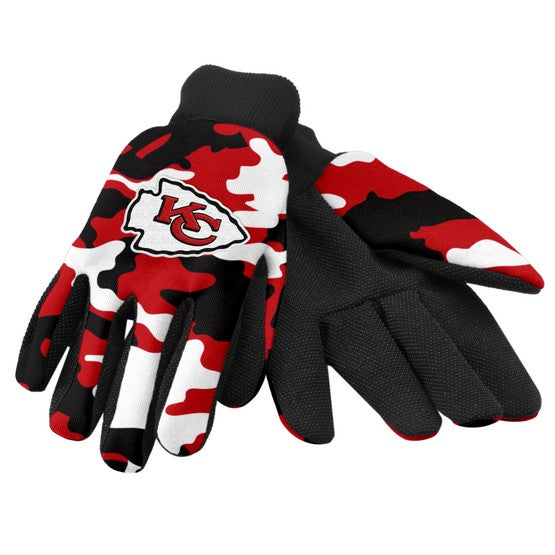 Kansas City Chiefs Camo Utility Gloves