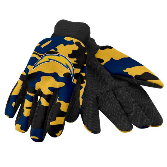 Los Angeles Chargers Camo Utility Gloves