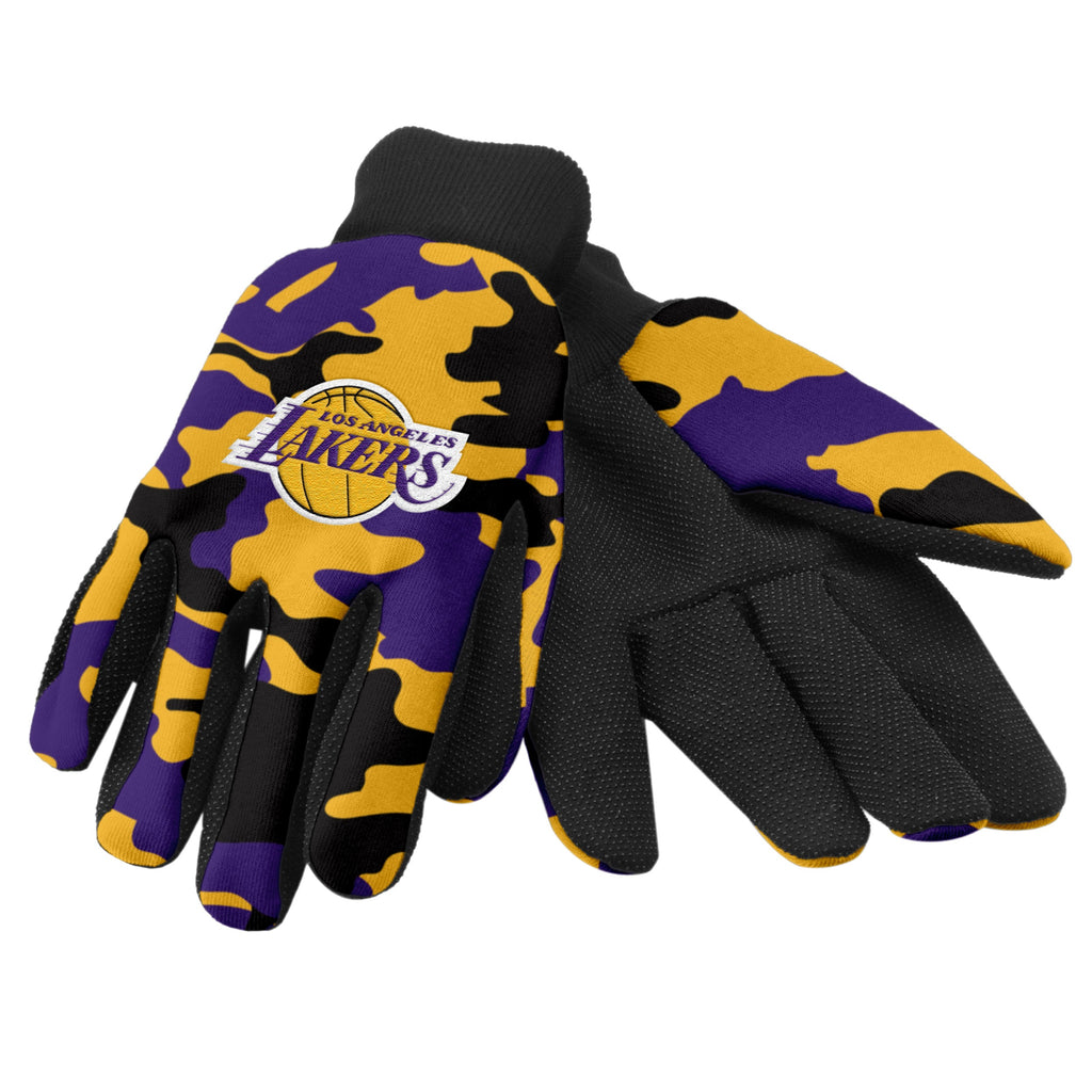 Los Angeles Lakers Camo Utility Gloves