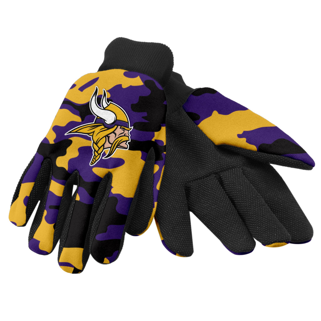 Minnesota Vikings Camo Utility Gloves