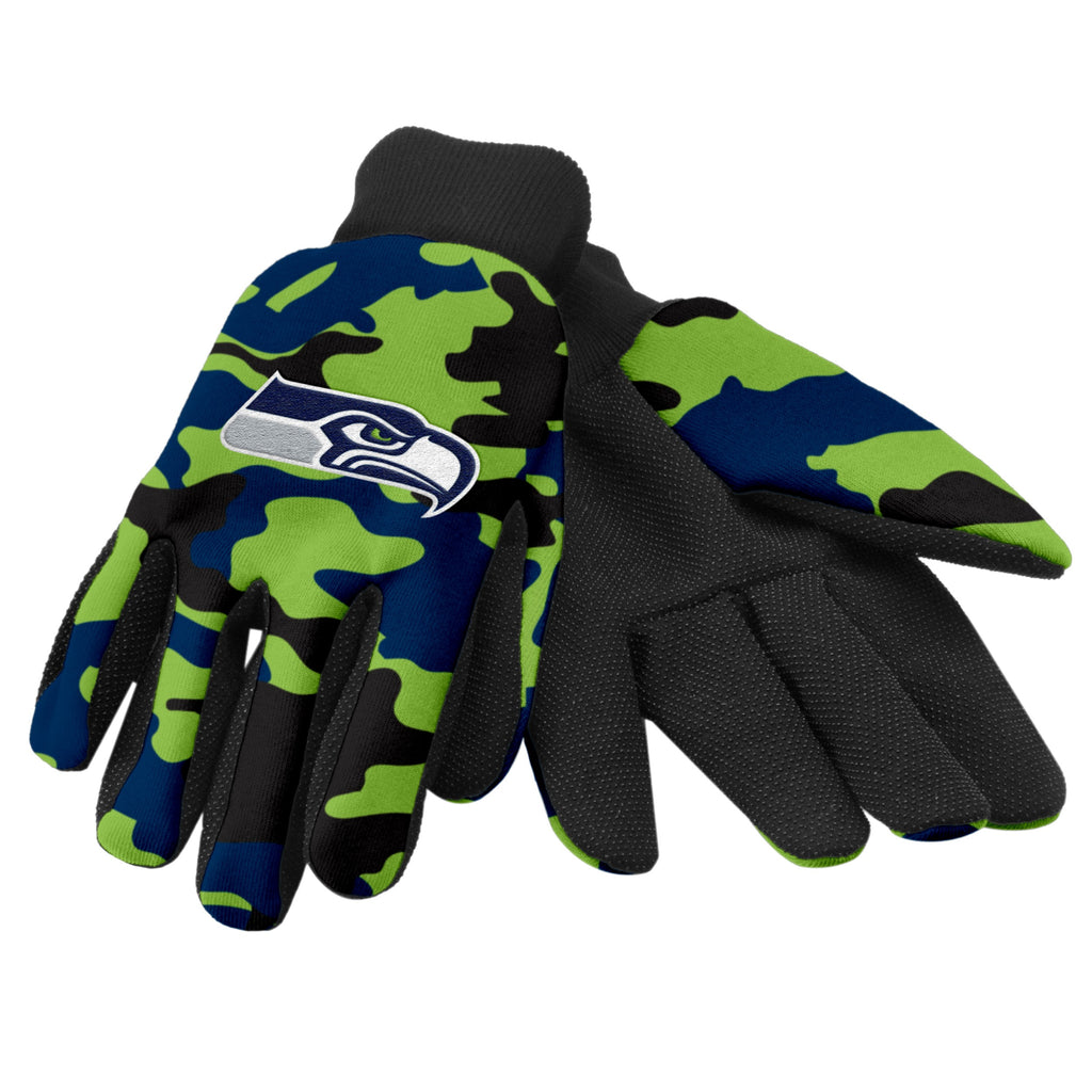 Seattle Seahawks Camo Utility Gloves