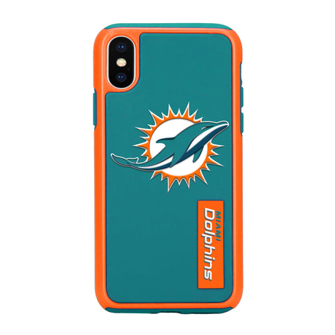 Miami Dolphins Dual Hybrid iPhone X Case