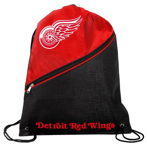 Detroit Red Wings Diagonal Zip Drawstring