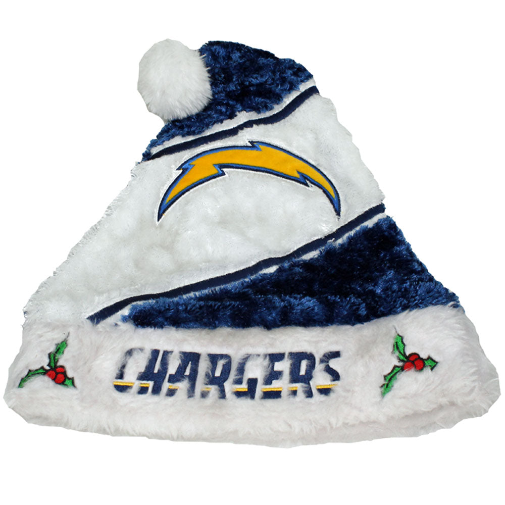 Los Angeles Chargers Fuzzy Santa Hat