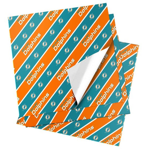 Miami Dolphins Folded Wrapping Paper