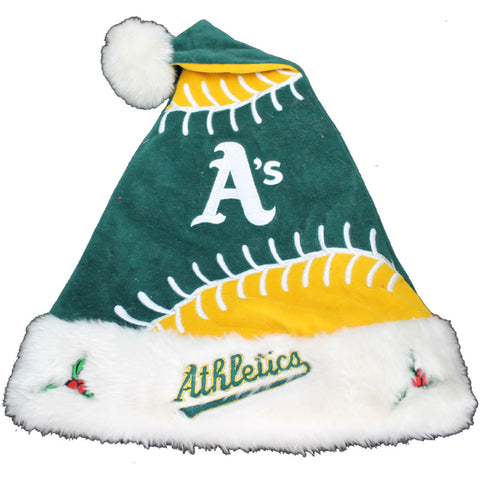 Oakland Athletics Gameball Santa Hat