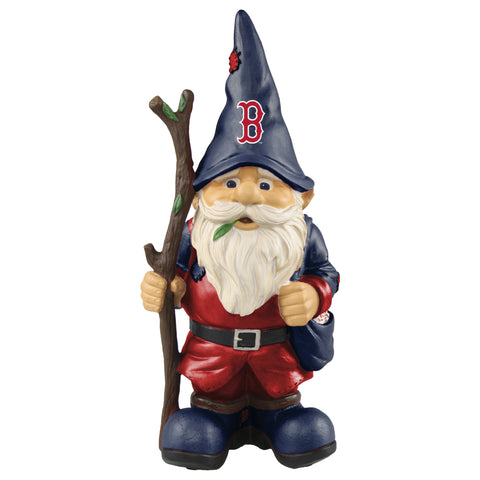 Boston Red Sox Gnome Holding Walking Stick