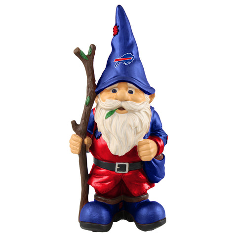 Buffalo Bills Gnome Holding Walking Stick