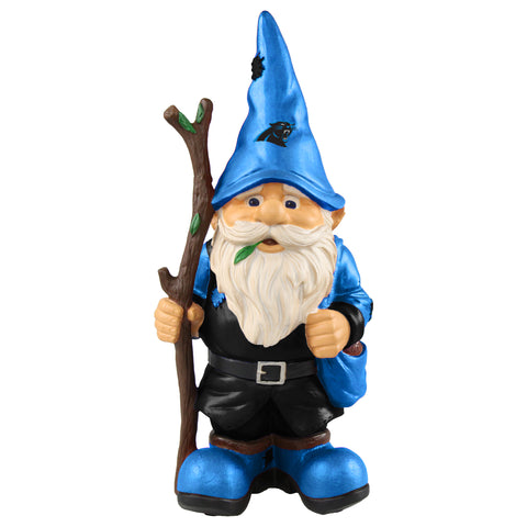 Carolina Panthers Gnome Holding Walking Stick