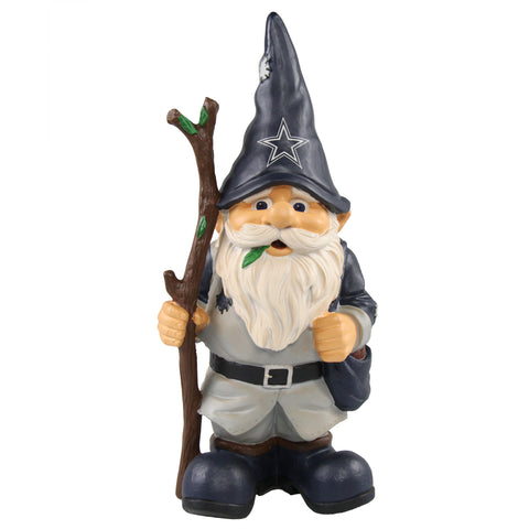 Dallas Cowboys Gnome Holding Walking Stick