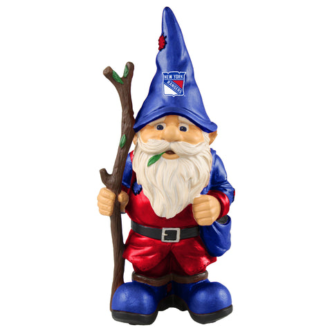 New York Rangers Gnome Holding Walking Stick