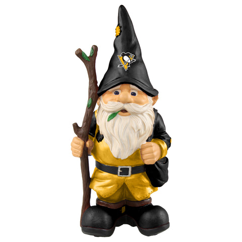 Pittsburgh Penguins Gnome Holding Walking Stick