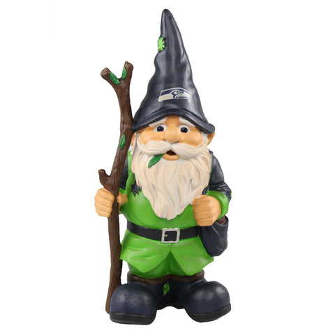 Seattle Seahawks Gnome Holding Walking Stick