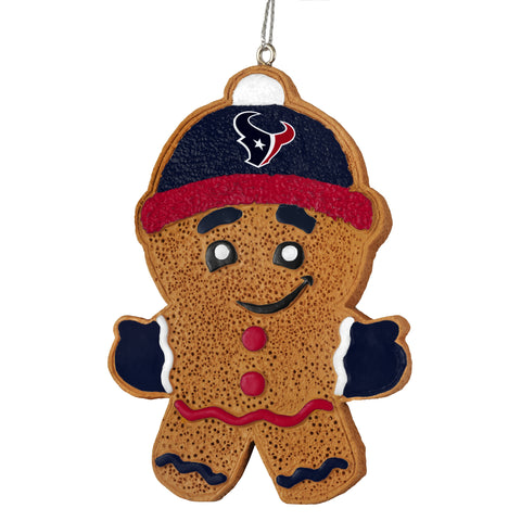 Houston Texans Gingerbread Man Ornament