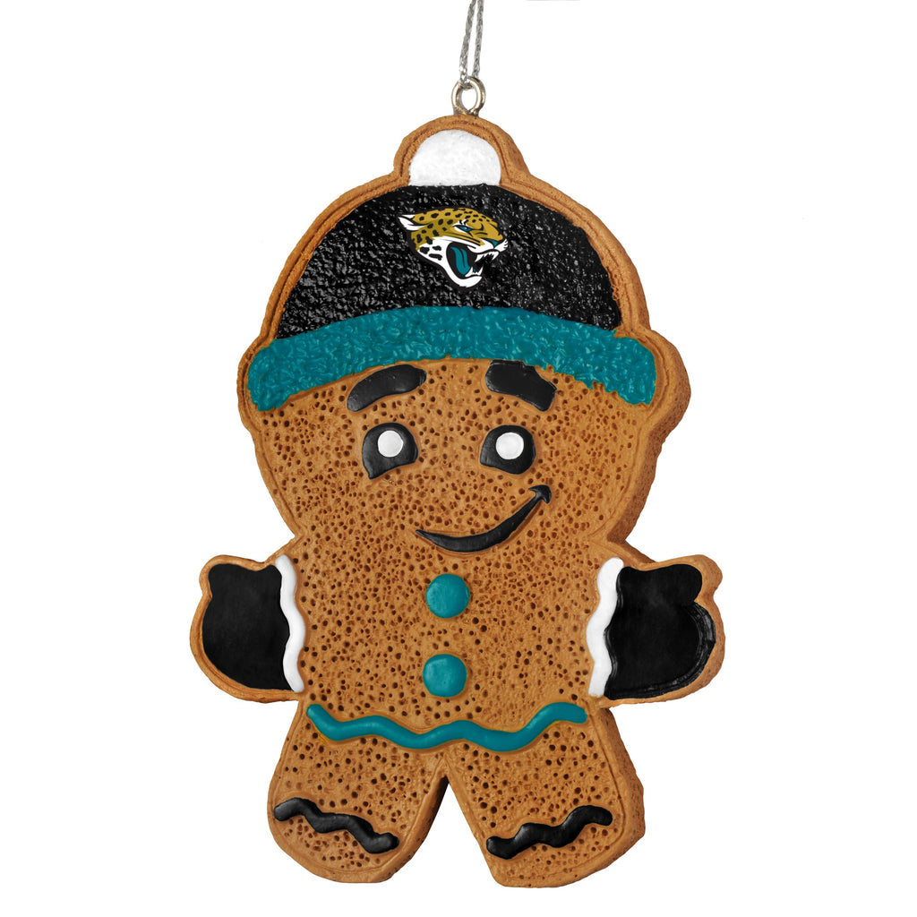 Jacksonville Jaguars Gingerbread Man Ornament