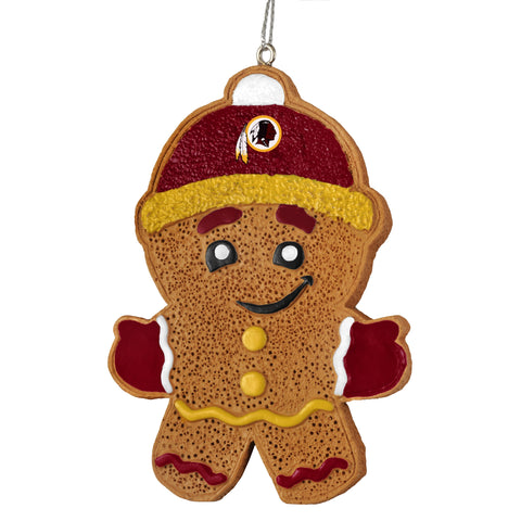 Washington Redskins Gingerbread Man Ornament