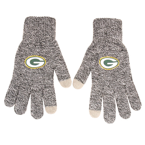 Green Bay Packers Gray Knit Gloves