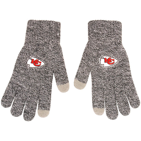 Kansas City Chiefs Gray Knit Gloves
