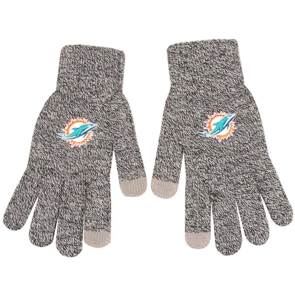 Miami Dolphins Gray Knit Gloves