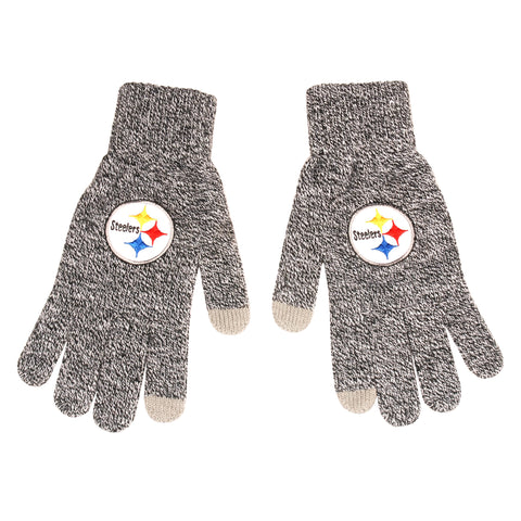 Pittsburgh Steelers Gray Knit Gloves