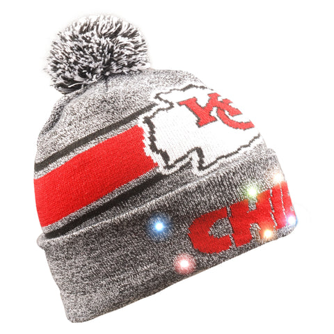 Kansas City Chiefs Gray Stripe Beanie