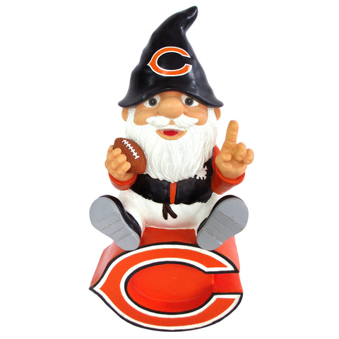 Chicago Bears Gnome Sitting on Logo