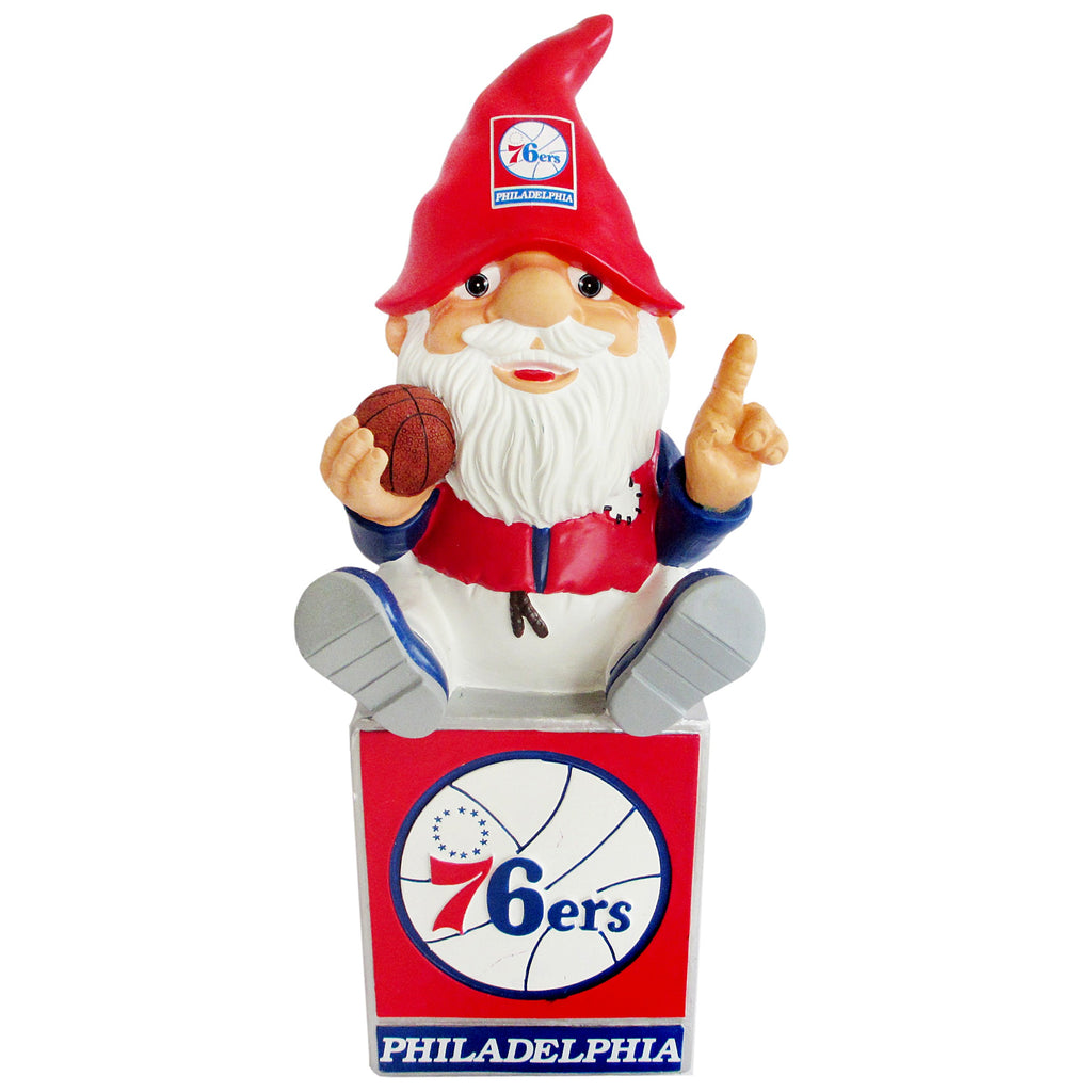 Philadelphia 76ers Gnome Sitting on Logo