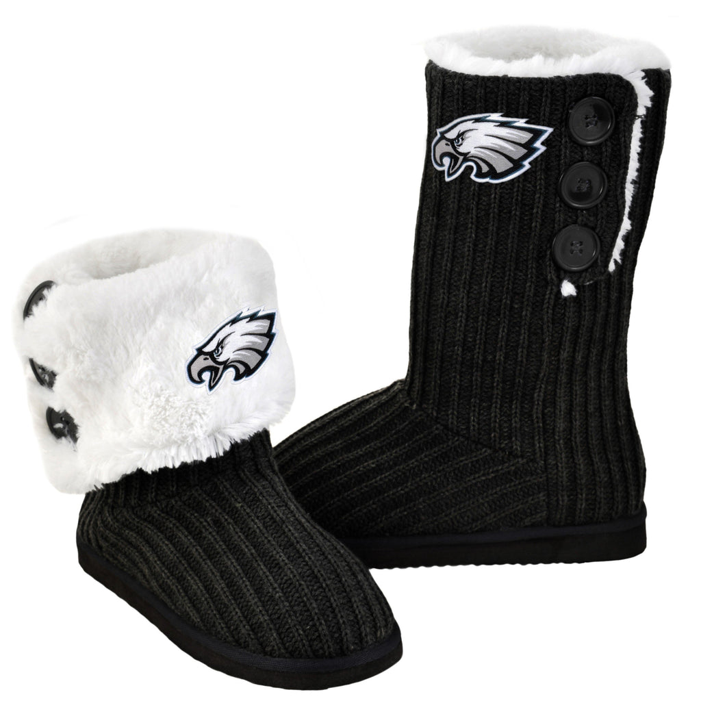 Philadelphia Eagles Knit Boots Black