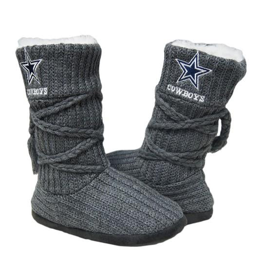 Dallas Cowboys Knit Boots Gray