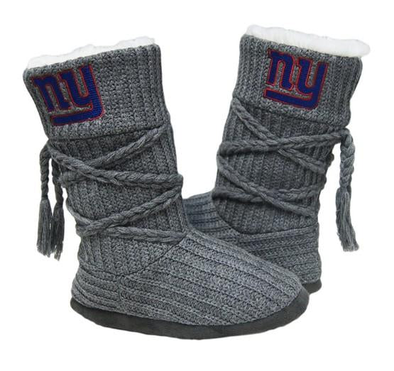 New York Giants Knit Boots Gray