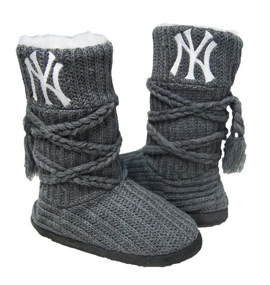 New York Yankees Knit Boots Gray